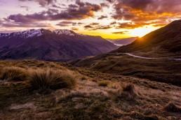 Glorious Sunset, Cardrona Range - Steve Rutherford Landscape Photography Art Gallery