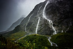Downpour, Milford Sound, NZ - Steve Rutherford Landscape Photography Art Gallery