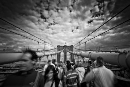 Bridge Walkers, Brooklyn - Steve Rutherford Landscape Photography Art Gallery